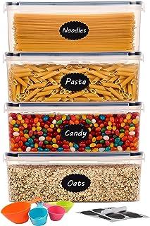 Aitsite Boîte Hermétique de Conservation Alimentaire 4Pcs Set 2.3L, Contenent Hermétique Plastique pour Spaghetti, Pasta, ...