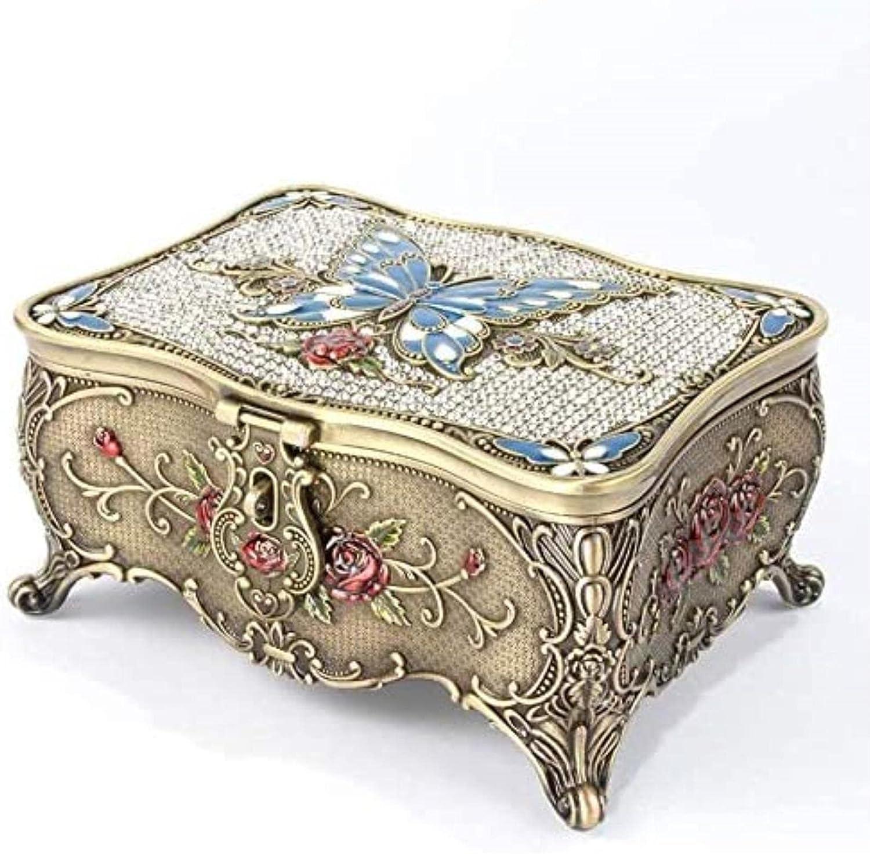 security ZXCVBNN Women's Popular standard jewelry box European butterfly diamond retro jew