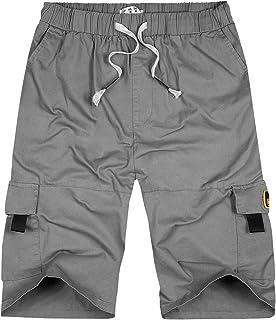 Macondoo Men Straight Outdoor Casual Rugged Sport Multi-Pocket Cargo Pants