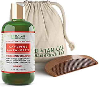 Anti Hair Loss Shampoo DHT Blocker Cayenne - Saw Palmetto Hair Growth Botanical For Hair Thinning