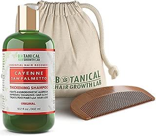 Botanical Hair Growth Lab Cayenne - Saw Palmetto Hair Loss Shampoo DHT Blocker For Hair Thinning Prevention Alopecia Postpartum 10.2 Fl Oz