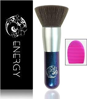 ENERGY Flat Foundation Brush Large Face Brush Full Face Powder Brush Premium Dense Bristles with Dreamy Star Handle Portable Makeup Cosmetic Tool