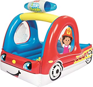 Big Ol' 93531E Fire Truck - Fire Truck Inflatable Ball Pit, Red
