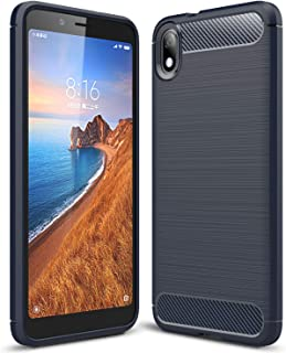 ZAPCASE Back Cover Case Compatible for Xiaomi Redmi 7A Cases & Covers (Carbon Fibre Rugged Armour Black Colour)