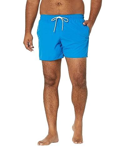 Lacoste Solid Elastic Waist Swim Trunks