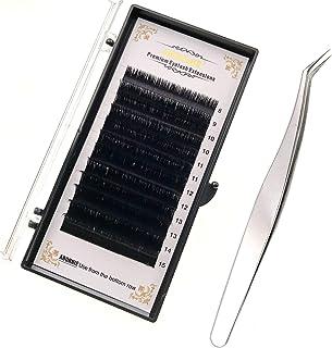 JZK 8mm-15mm mix lengte 0.07 C krul gemakkelijk fan Russische wimpers, met professionele pincet, zijde nerts volume wimper...