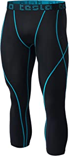 Tesla Men's Compression 3/4 Capri Shorts Baselayer Cool Dry Sports Tights
