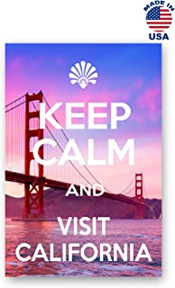KEEP CALM AND VISIT CALIFORNIA postcard set of 20 identical postcards. Quality post card pack. Made in USA.