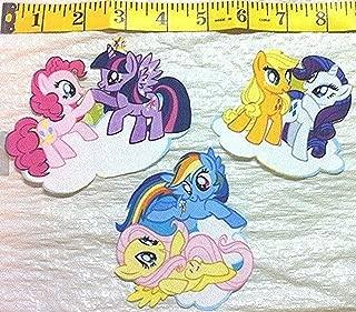 Set of Three My Little Pony Friendship is Magic Iron on Fabric Applique
