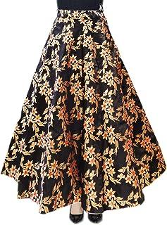 DB ENBLOC Women's Now Umbrella Cut Skirt for Party/Festival Function Black
