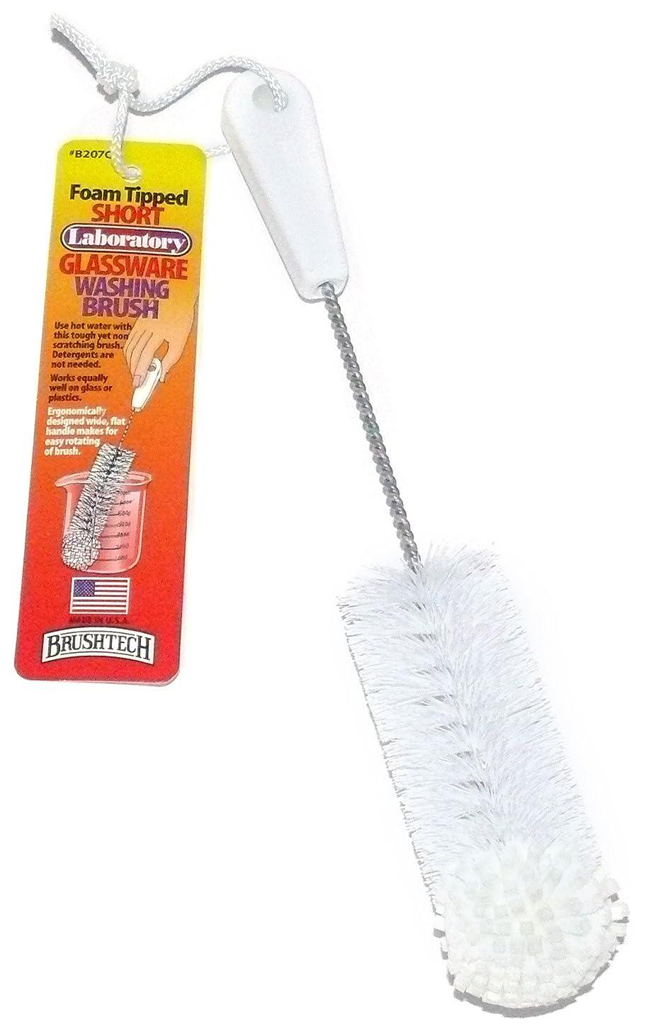 Brushtech Foam-Tipped Short Laboratory Glassware Brush B207C