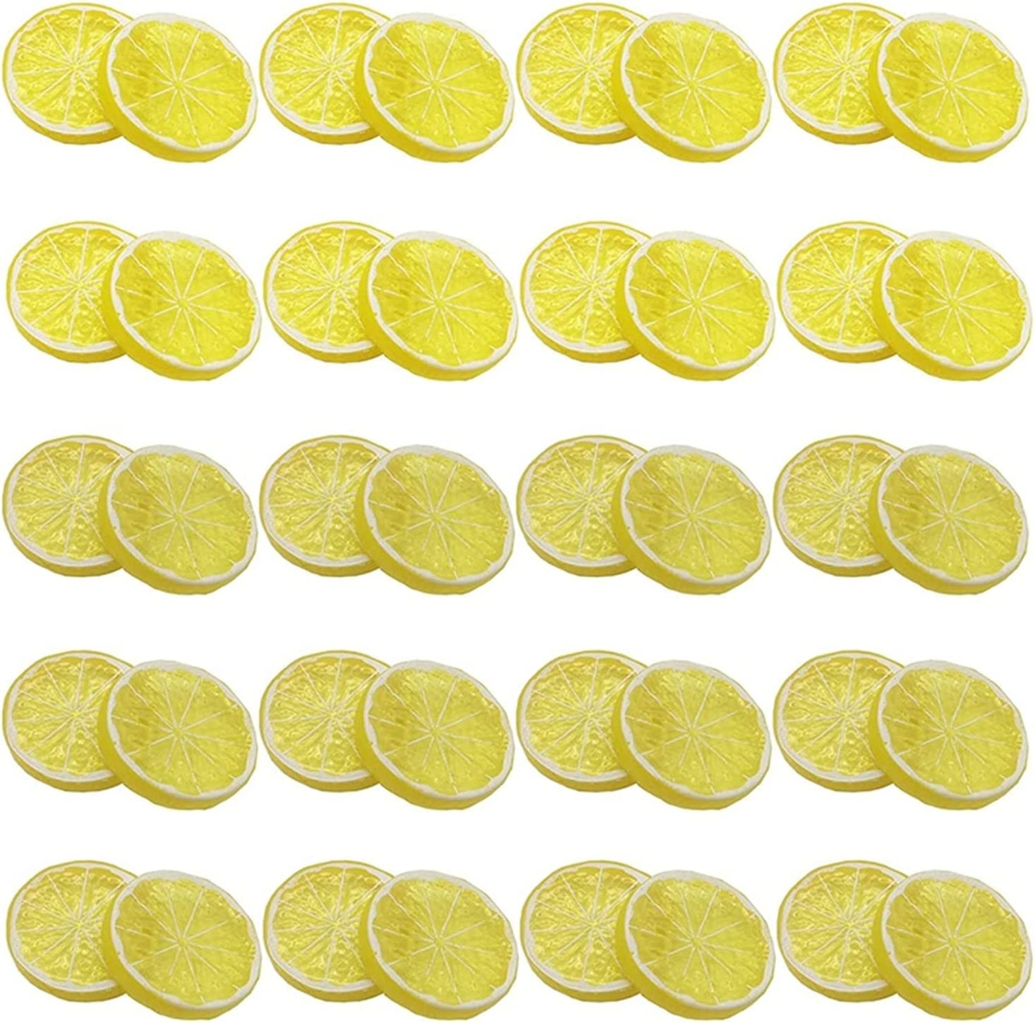 JJYGXYG Artificial Fruit Lemon It is Spasm price very popular Slice Mini Fake