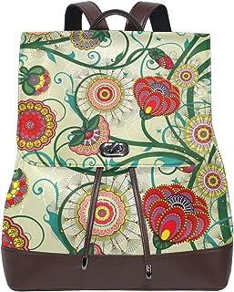 FANTAZIO - Mochila de Viaje, diseño Floral, Estilo Vintage