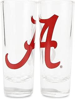Boelter NCAA Color Team Logo 2oz Cordial Shot Glass 2-Pack (Alabama Crimson Tide)