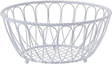 Gourmet Basics by Mikasa Rope Basket, 10 inch, White