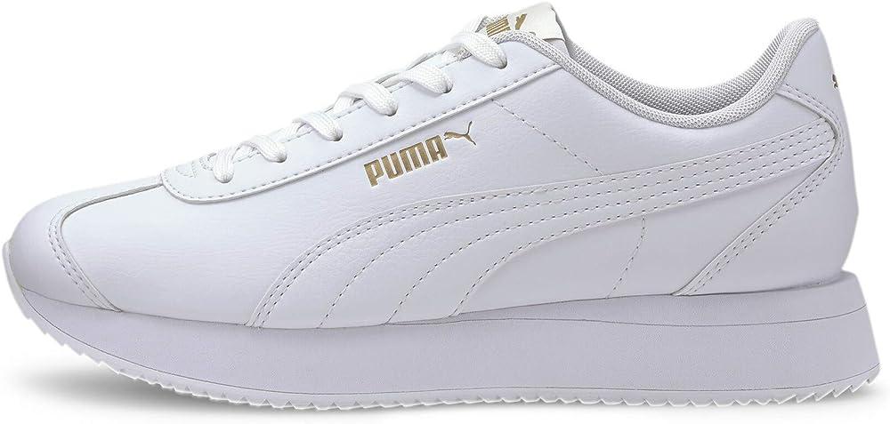Puma turino stacked, sneakers donna, in pelle sintetica di alta qualita` 371115