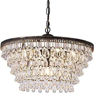 3 Lights Hile Lighting KU300107 Crystal Chandeliers Flush Mount Ceiling Light Lamp,Diameter 11.0 Inch Height 11.8 Inch