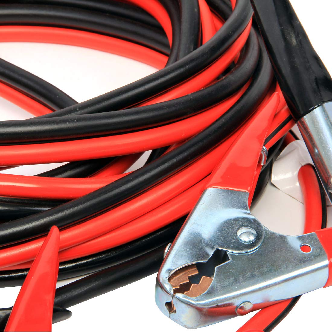 AOTOMIO 4 Gauge 25 Feet Jumper Cables 12V Heavy Duty Booster,Alligator Clips with Travel Bag for Most Cars Trucks SUVs