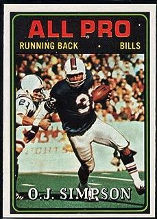 Football NFL 1974 Topps #130 O.J. Simpson AP Bills