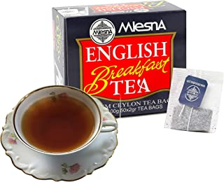 Mlesna English Breakfast Bags -Ozone Friendly Fine Tea 100 Individual Bags Best for Hot Tea or Iced Tea (2 Pack of 50 Tea Bags)