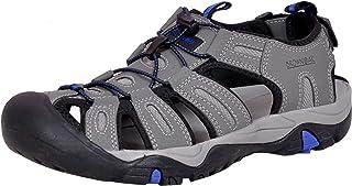 Brown Oak Men's Waterproof Hiking Trekking Walking Comfortable Outdoor Durable Breathable Bungee Closure Adjustable Velcro Backstrap Water Shoes Sports Sandals
