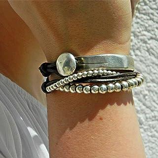 Fatto a mano -Braccialetto dell'involucro fatta da Intendenciajewels - Bracciali in pelle - braccialetto di perline - Brac...