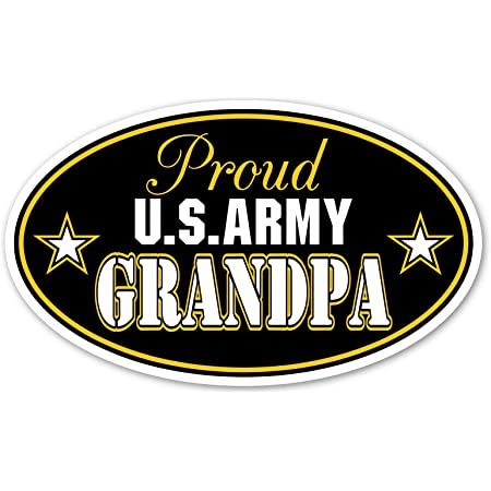 Proud Navy Grandparent Military United States Solider Decal