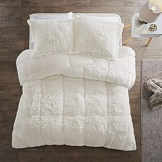 Intelligent Design Ivory Malea Shaggy Faux Fur Comforter Set Cal King