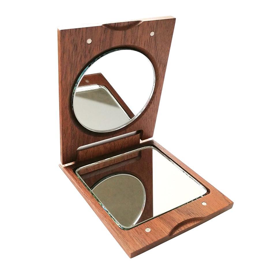 ライブ受信驚いたことにきざむ 名入れ 木製 手鏡 ハンドミラー ギフト