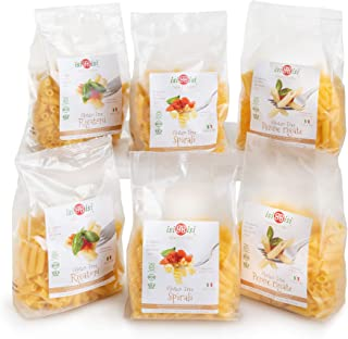 isiBisi Gluten Free Pasta Sampler - Rice and Corn Flour - Made in Italy (80 oz - 6 Pack)