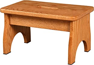 Beiler Custom Cabinets-Solid Wood Stepstool: Handmade in The USA: for Kitchen, Bedroom or Bathroom (Oak, Golden)