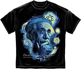 T-Shirt Einstein Starry Night Black