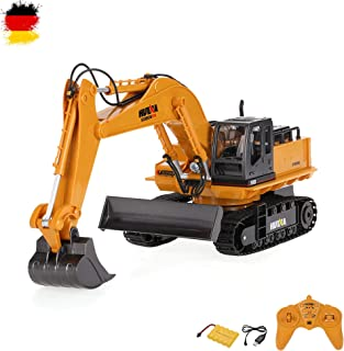 11de canal teledirigido oruga excavadora, Excavadora, construcción vehículo, vehículos, Juego Completo con control remoto, batería y cargador, embalaje original)