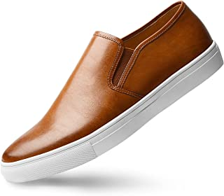 Men's Slip-On Loafers Suede Leather Slip Resistant Walking Shoes