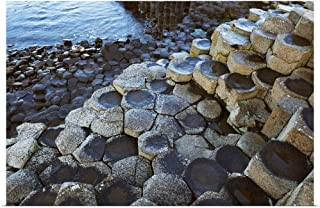 GREATBIGCANVAS Poster Print Basalt Rock Formation, Giant's Causeway, County Antrim, Northern Ireland by 18