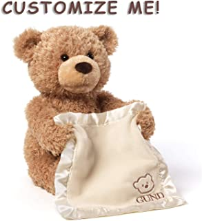 Gund Personalized Peek A Boo Teddy Bear (Brown Peek a Boo Plush Toy)