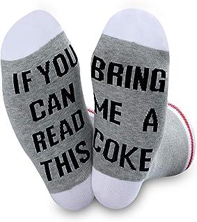 NOBAND, Calcetines de regalo para amantes de la coca y la coca si usted puede leer esto trae una coca novedad calcetines para hombres y mujeres