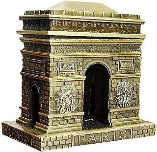 AMOYER Arquitectura 3D Arco del Triunfo Modelo Metal Decoración Pequeño Hogar Modelo del Artículo De La