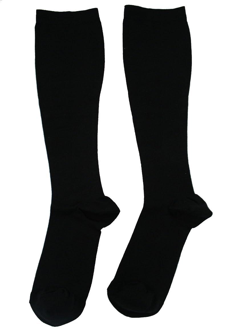 不均一賞賛タイプエンバランス 美 着圧ソックス ブラック Lサイズ T41081