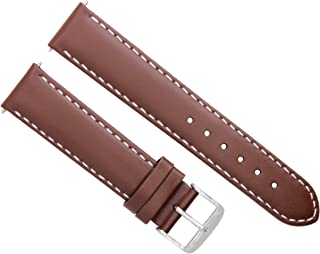 22MM LEATHER WATCH STRAP SMOOTH BAND FOR BREITLING CHRONOMAT 44 L/BROWN TAN WS