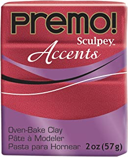 Premo Sculpey Accents Polymer Clay 2oz-Red Glitter