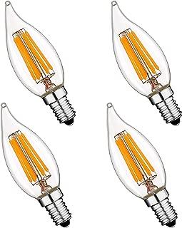 Keymit LED Candelabra Light Bulb E12 Base for Chandelier Lighting 4Pack