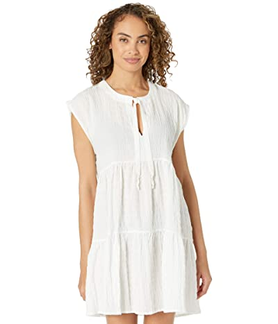 Robin Piccone Fiona Flouncy Tiered Dress (White) Women