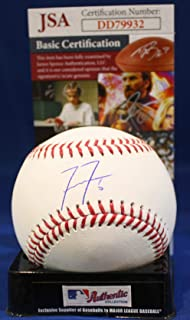 Autographed Freddie Freeman Official Rawlings Major League Baseball - with JSA
