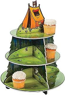 Fun Express - Camp Adventure Cupcake Holder for Birthday - Party Supplies - Serveware & Barware - Misc Serveware & Barware - Birthday - 1 Piece