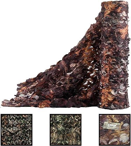 ZX- Filet de Camouflage, Filet D'ombrage Des Bois MultiCouleure Desert Camo Net , Pour Le Camping ,Chasse Tir,Aveuglement Cacher Decor Décorations de Fête (taille   4X12m)