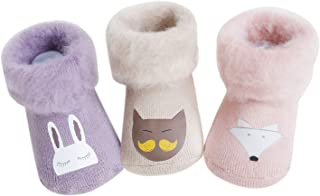 Baby Winter Thick Fur Cotton Socks Warm Toddler Boys Girls Socks 0-36 months