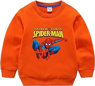 MODRYER Enfants Garçons Sweat-Shirt Spiderman Enfant en Bas Âge Jumper Col Rond Manches Longues Vêtements T-Shirt en Coton...