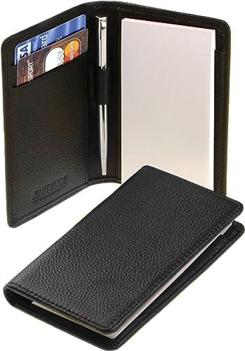 I Luv Ltd Porte-Bloc-Notes - voiturete en Cuir Noir Portefeuille avec Pad et Stylo - Boîte-Cadeau