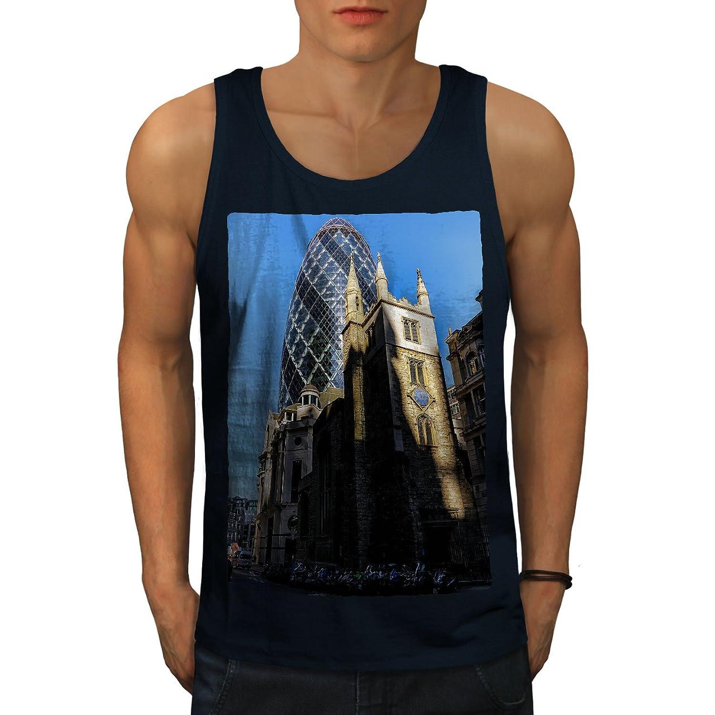 Wellcoda ロンドン イギリス シティ ファッション 男性用 S-2XL タンクトップ